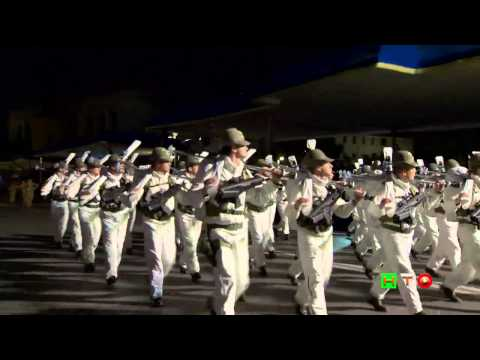 Prove in notturna della Rivista Militare per la LXVII Festa della Repubblica - www.HTO.tv