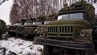 заброшенная техника , куча техники/ ГАЗ-66.ЗИЛ.КАМАЗ
