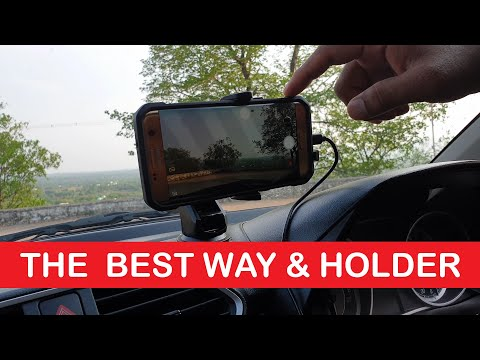 How To Record Videos In Your Car Or Any Vehicle While Driving Using ZAAP Smartphone Holder BEST WAY