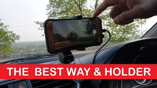 How to Record Videos in your car or any Vehicle While Driving Using ZAAP Smartphone Holder BEST WAY screenshot 2