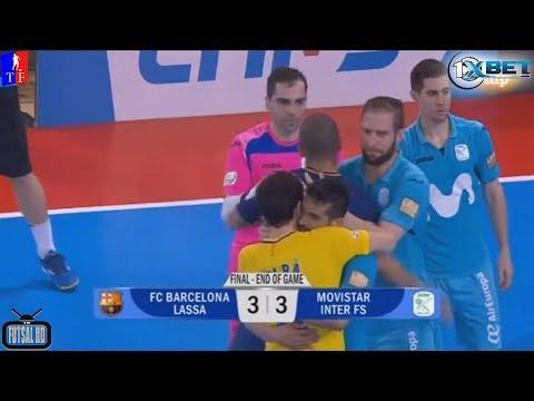 Jogo Completo  Barcelona 3 x 3 Inter Movistar - 29ª Rodada Liga Espanhola de Futsal 2017/2018