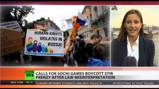 Olympic Blames: Calls to boycott Sochi stir media frenzy over gay law misinformation