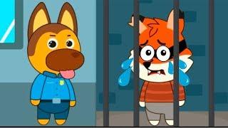 Видео для детей про спасателей в детской игре. Щенок полицейский и котенок доктор помогают друзьям