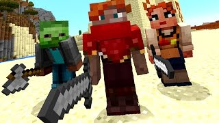 МАМА vs ЗОМБЯК :) Майнкрафт с РОДИТЕЛЯМИ по сети на Телефоне. Minecraft PE 0.14.3 ЛетсПлей КокаПлей
