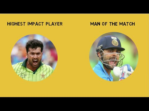 """Man of the Match"" vs Highest Impact Player"