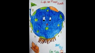 How to draw Life on Planet Earth ?