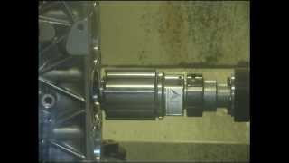 id10 2 stage honing of alsi17 v8 engine block on horizontal machining center xstep and coolex