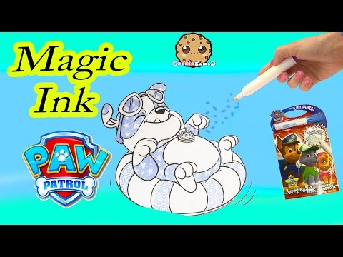 Paw Patrol Imagine Ink Magic Marker Pen Book With Surprise Pictures & Games Cookieswirlc Video
