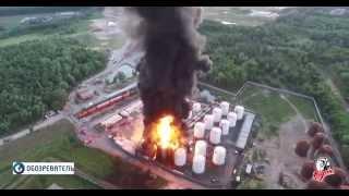 Пожар на нефтебазе Киев