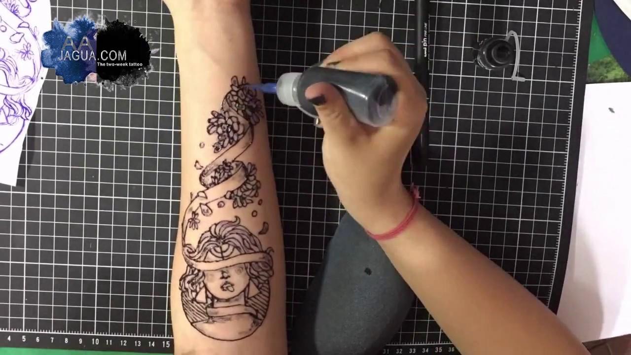 Aa jagua tattoo ink temporary tattoo jagua tattoo kit for Temporary tattoo kit online