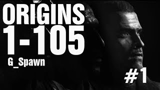 Origins Rounds 1-105 TheRelaxingEnd Solo #1 - Black Ops 2 Zombies Solo Easter Egg