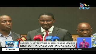 Why did President Uhuru fire Mwangi Kiunjuri?