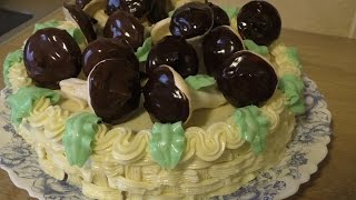 Торт Лукошко с грибами