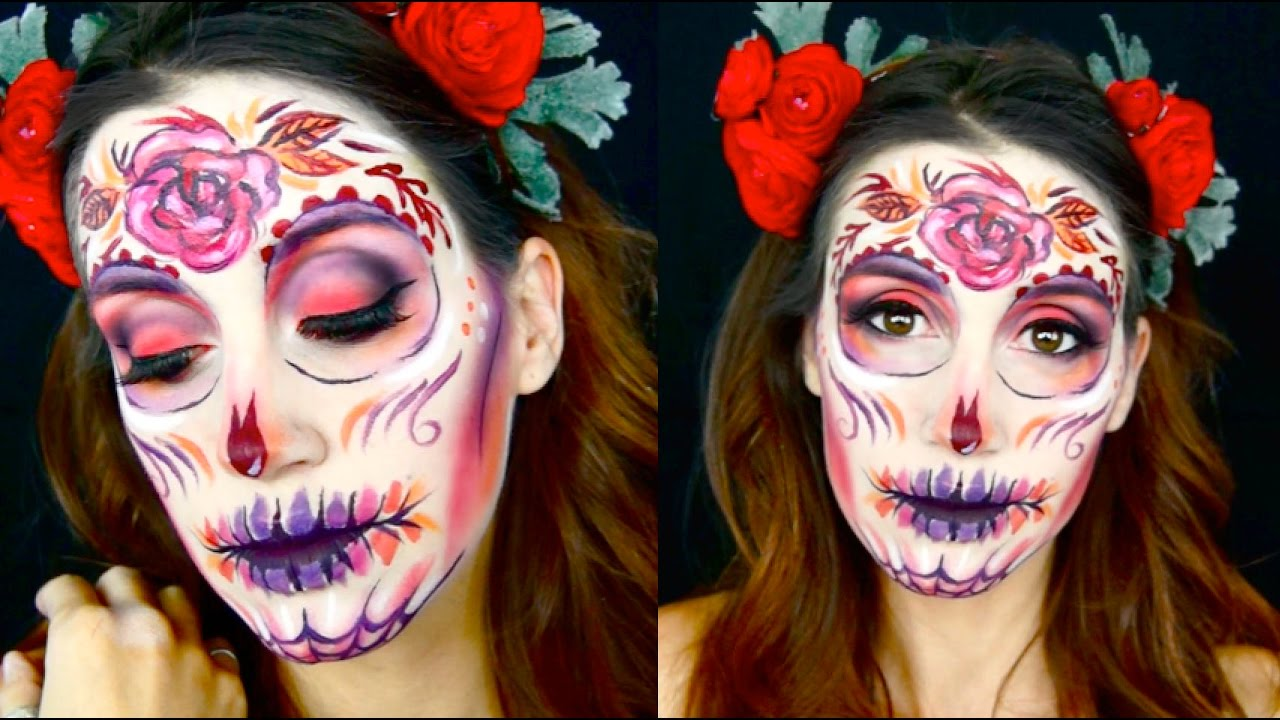 psychedelic sugar skull halloween