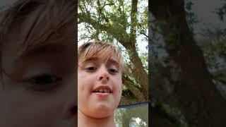 Braydon Flipping And Having Fun On Trampoline Being Crazy