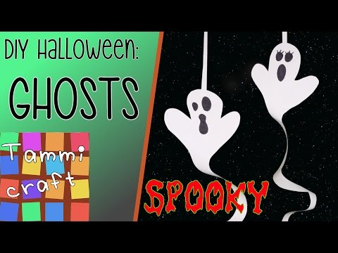 How to Make a Paper Ghost - DIY for Kids
