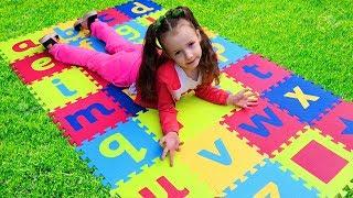 ABC Song | Ulyana Pretend Play Learning Alphabet w/ Toys & Nursery Rhyme Song