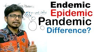 Endemic epidemic and pandemic difference