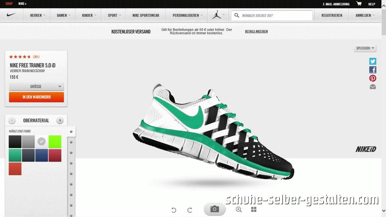 Nike Free Designen | Nike Free Trainer 5 0 Selber Designen Und Personalisieren Youtube