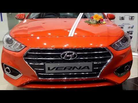 New Hyundai Verna 2017 Launch Flame Orange color Walkaround Interior and Exterior