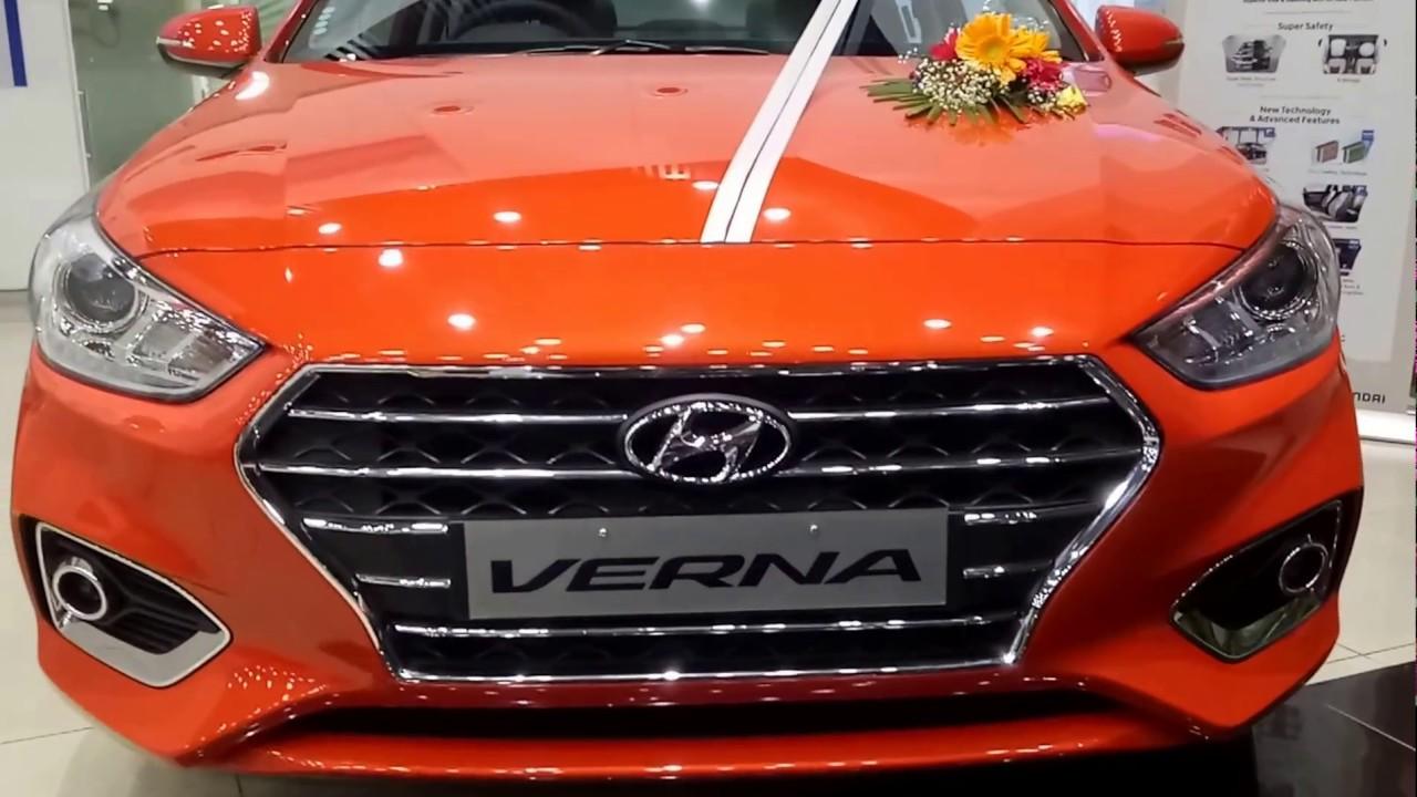New Hyundai Verna 2017 Launch Flame Orange Color