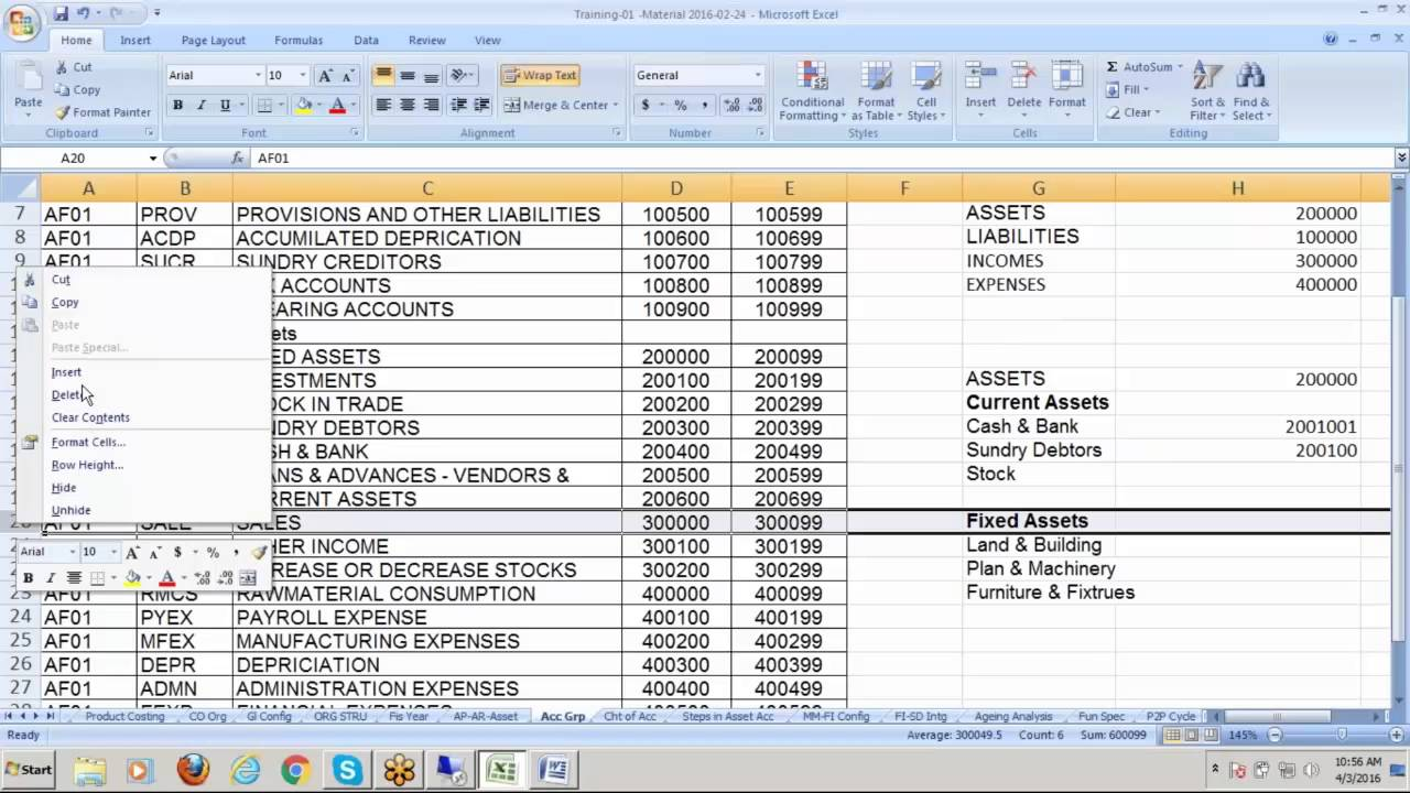 also creating chart of accounts in sap fico training video youtube rh