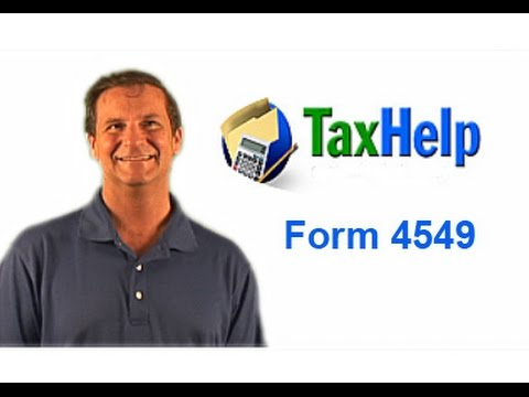 Irs Form 4549 Examination Changes Youtube