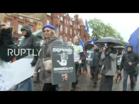LIVE: 'Reject Brexit' protest hits Manchester during party conference