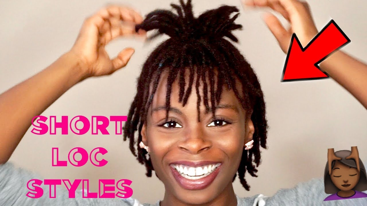 8 short easy loc styles 👍🏾 | cute hairstyles for short dreads ✨ | #darrencetv