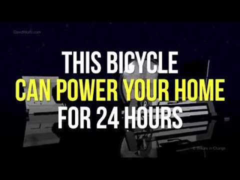 Bicycle Can Power Your Home for 24 Hours: The Free Electric Hybrid Bike by David Wolfe