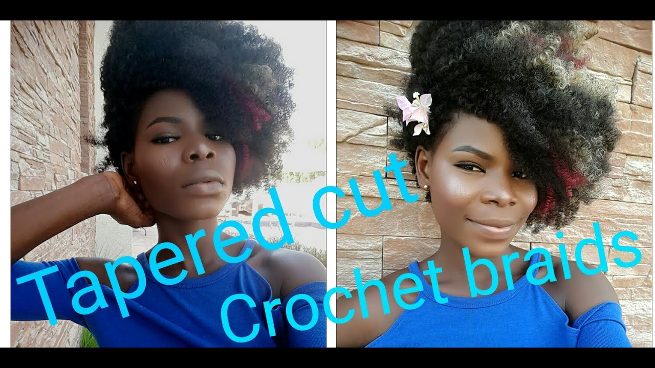 How To Tapered Cut Crochet Braids On Short Natural Hair