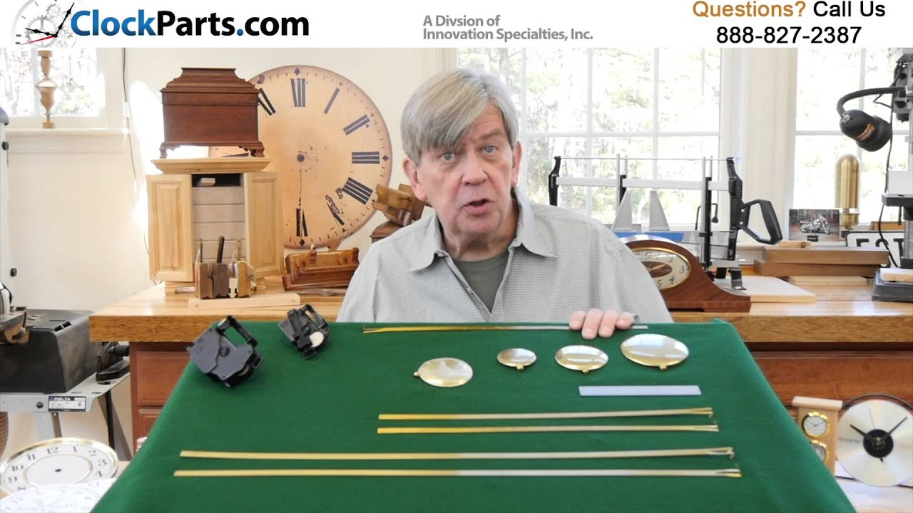 Clock Pendulums Rods and Bobs