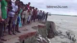Meghna River erosion forces suspension of ferry operations on Bhola-Lakshmipur route