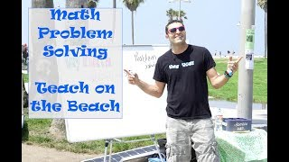 Problem solving skills for math, by Teach on the Beach
