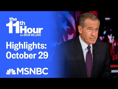 Watch The 11th Hour With Brian Williams Highlights: October 29 | MSNBC