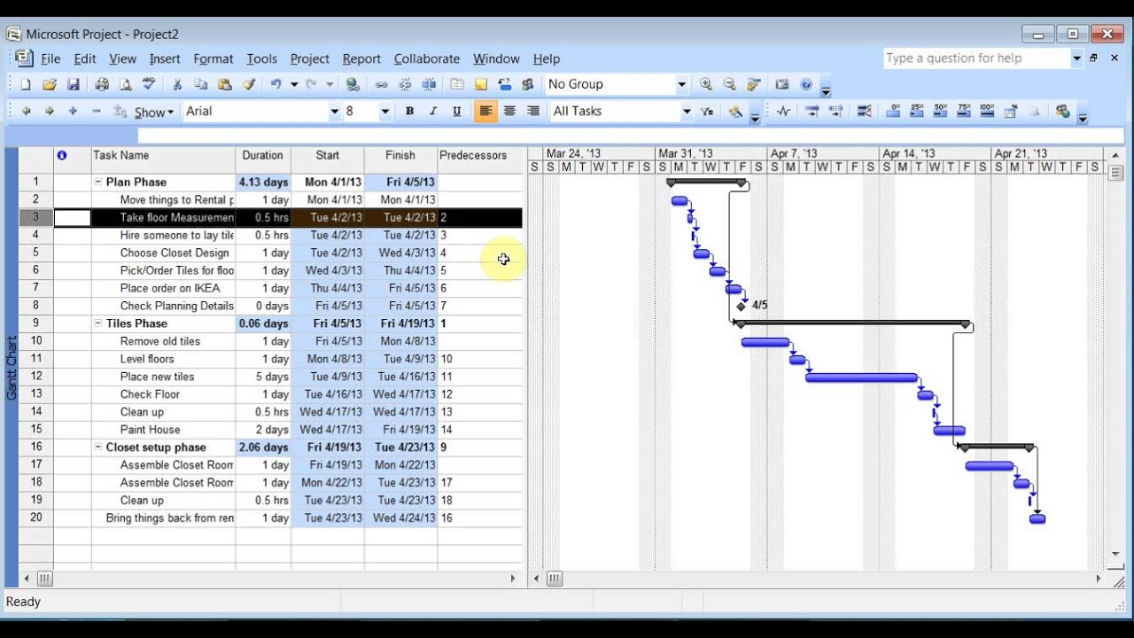 Microsoft Project 2007 Pt 1 Tasks YouTube – Microsoft Project Sample