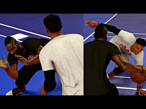 WHO BETTER RUSSELL WESTBROOK OR JAMES HARDEN?!? NBA 2K17 1V1 CHALLENGE!