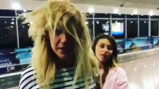 Регина Тодоренко и Леся Никитюк подрались в аэропорту.