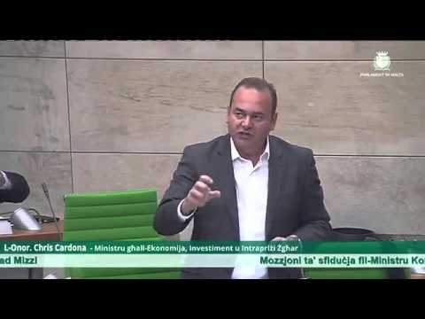 Malta's Economy Minister backs corrupt colleague in parliament vote 5/05/16