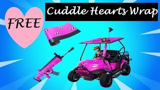 How to get a FREE Cuddle Hearts Wrap - FORTNITE