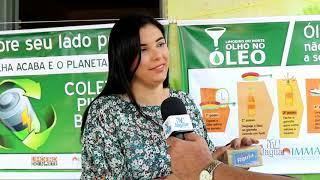 Instituto do Meio Ambiente de Limoeiro do Norte realiza dupla camapnha de coleta de óleo de cozinha,