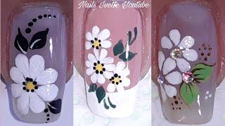 3 decoración de uñas margaritas/Decoración de uñas margarita 🌼