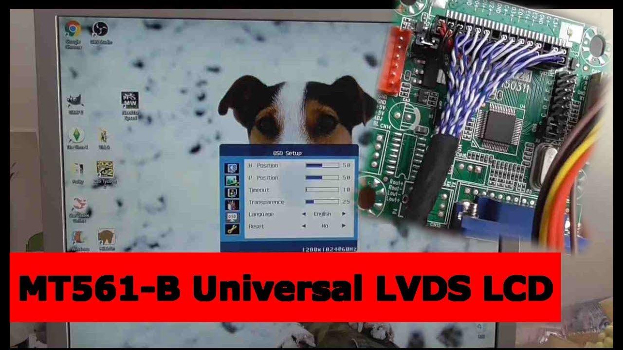 MT561-B Universal LVDS LCD Monitor Screen Driver (Oprava monitora za $4)