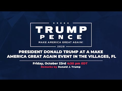 LIVE: President Donald Trump in The Villages, FL #Florida