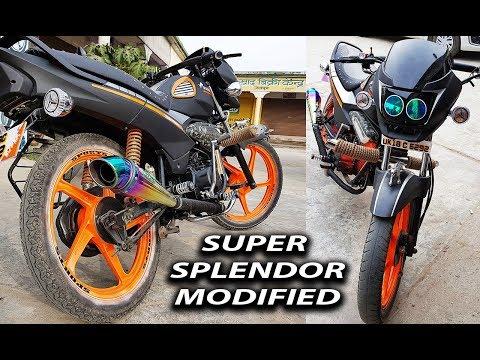 Super Splendor Modified Into Sports Model || 2018 || Kamal Auto Nikhar