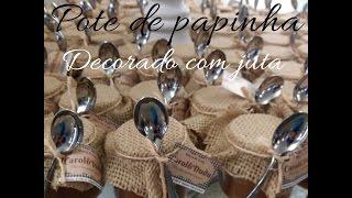 Vidro de papinha decorado com juta e sisal