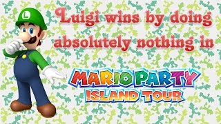 Mario Party: Island Tour - Luigi wins by doing absolutely nothing