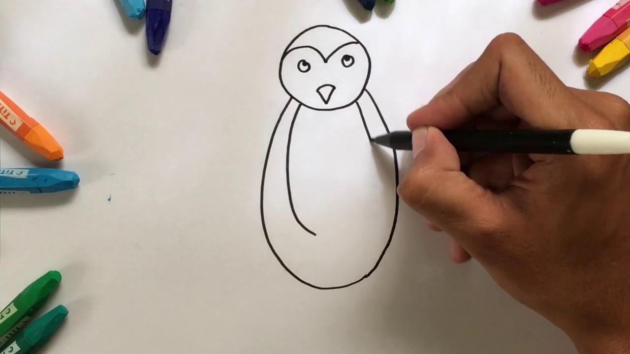 Menggambar & Mewarnai Pinguins