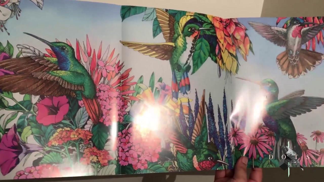 Unboxing: Libro Aves exóticas para colorear - YouTube