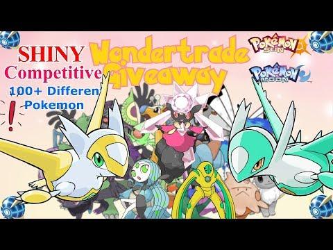 ♪ 100+ Different Pokemon LEGENDS  - SHINY WONDERTRADE GIVEAWAY - 3 Nintendo 3DS TRADING !! ♪